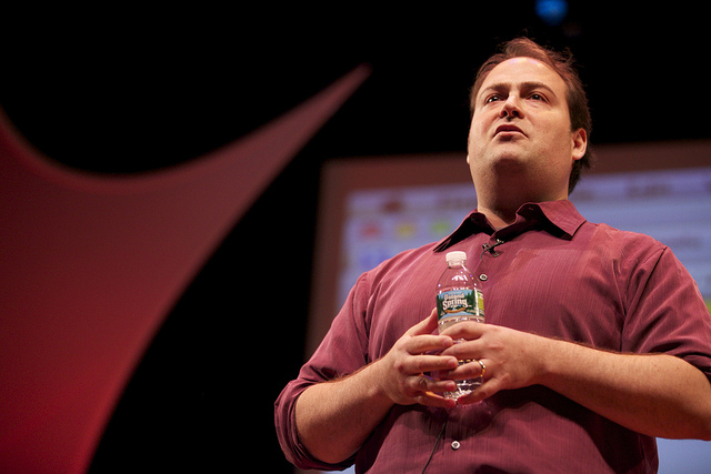 Andy Carvin at an event in June 2011. Photo by Flickr user personal democracy and reused here with Creative Commons license.