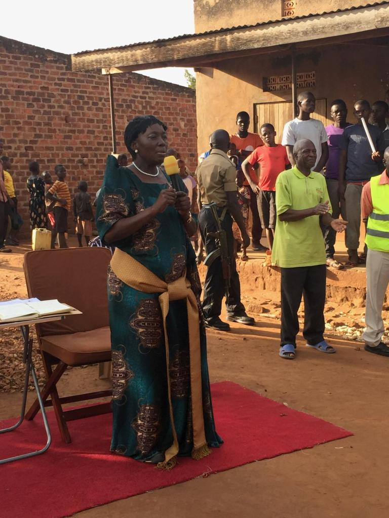 Rebecca Kadaga, Uganda's Speaker of Parliament and Member of Parliament for Kamuli district, addresses villagers during her campaign for the women's seat of the district. Photo: Sonia Paul